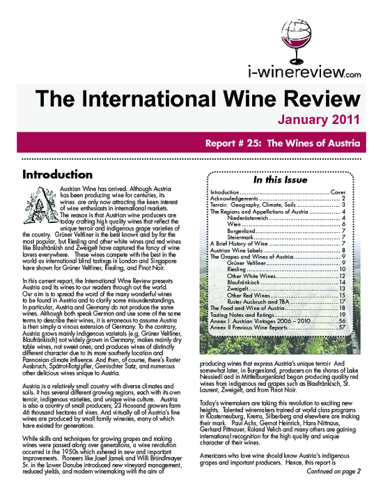 "Cover ""I-Wine Review"""