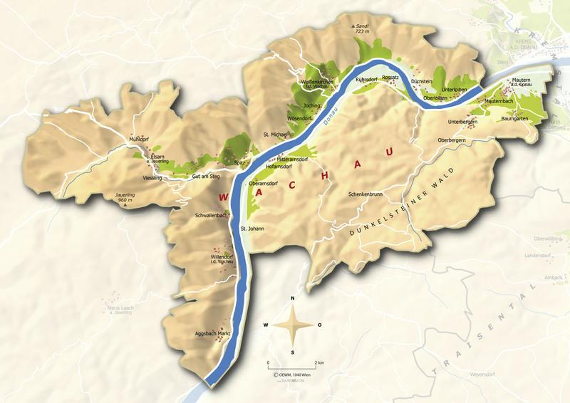 Wachau Karte.Wachau österreich Wein